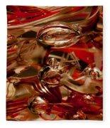 Crimson And Gray Glass Macro Ws2 Fleece Blanket
