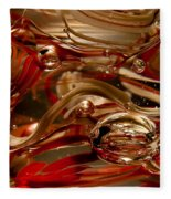 Crimson And Gray Glass Macro Ws4 Fleece Blanket