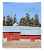 Crimson Barn Fleece Blanket