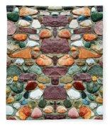 Crimson Field Stone Fleece Blanket