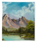 Crimson Mountains Fleece Blanket