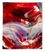 Crimson Orb Fleece Blanket