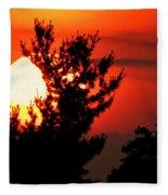 Crimson Sunset Fleece Blanket