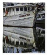 Crimson Tide And Reflection Fleece Blanket