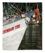 Crimson Tide Bow Fleece Blanket