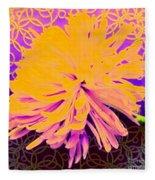 Crisantemo Dorado Fleece Blanket