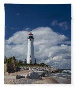 Crisp Point Lighthouse 15 Fleece Blanket