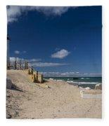 Crisp Point Lighthouse 17 Fleece Blanket