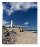 Crisp Point Lighthouse 18 Fleece Blanket