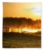 Crisp Spring Morning Fleece Blanket