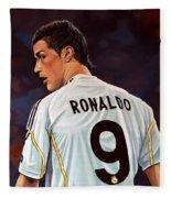 Cristiano Ronaldo Fleece Blanket