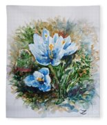 Crocuses Fleece Blanket