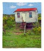 Crooked Little House - Orange Cats Fleece Blanket