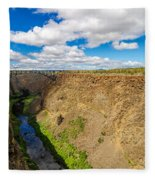 Crooked River Canyon And Bridge Fleece Blanket
