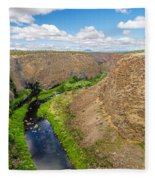 Crooked River Canyon Fleece Blanket