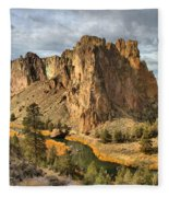 Crooked River Towers Fleece Blanket