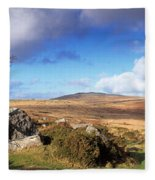 Crooked Tree At Feather Tor, Staple Fleece Blanket