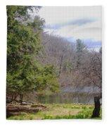 Crooked Tree Fleece Blanket