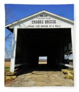Crooks Bridge Fleece Blanket