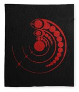 Crop Circle Formation Near Avebury Stone Circle In Wiltshire England In Red Fleece Blanket
