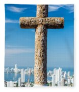 Cross And City Fleece Blanket
