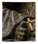 Cross And Feet Fleece Blanket