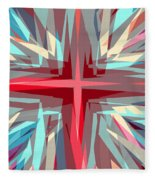 Cross Burst Fleece Blanket
