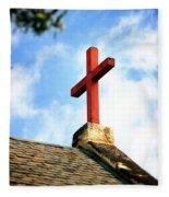 Cross Church Roof Fleece Blanket