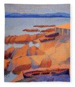 Cross' Coast Near Antibes Fleece Blanket
