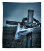 Cross In A Field Fleece Blanket