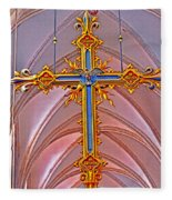 Cross Of Church Of Our Lady Fleece Blanket