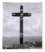 Cross Of Jesus Christ Fleece Blanket