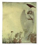 Cross Or Angel Fleece Blanket
