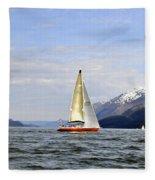 Cross Sound Sailboat Fleece Blanket