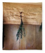 Crossbeam With Herbs Drying Fleece Blanket