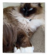 Crossed Paws Fleece Blanket