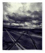 Crossed Tracks Fleece Blanket