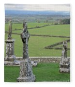 Crosses Of Cashel Fleece Blanket