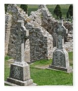 Crosses Of Clonmacnoise Fleece Blanket