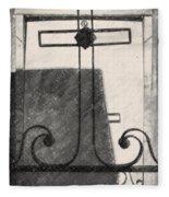 Crosses Voided Wrought Iron _ Nola Fleece Blanket
