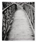 Crossing Over - Black And White Fleece Blanket