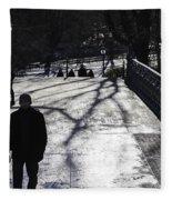 Crossing Over - Central Park - Nyc Fleece Blanket
