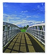 Crossing Over Bridge Fleece Blanket