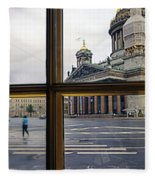 Crossing Over St. Basil Cathedral Fleece Blanket