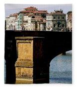 Crossing The Arno Fleece Blanket