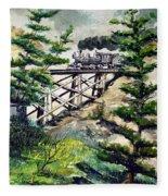Crossing The Gap Fleece Blanket