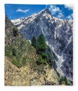 Crossing The Himalayas Fleece Blanket