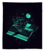 Crossing The Rough Sea Of Knowledge Fleece Blanket