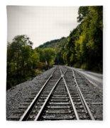 Crossing Tracks Fleece Blanket