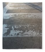 Crosswalk Shadow 1 Fleece Blanket